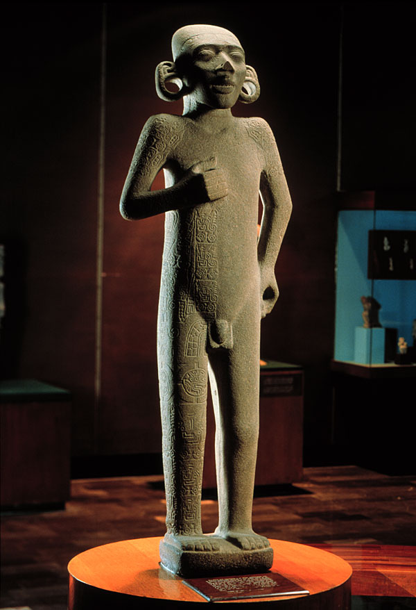 depicts a nude young male,